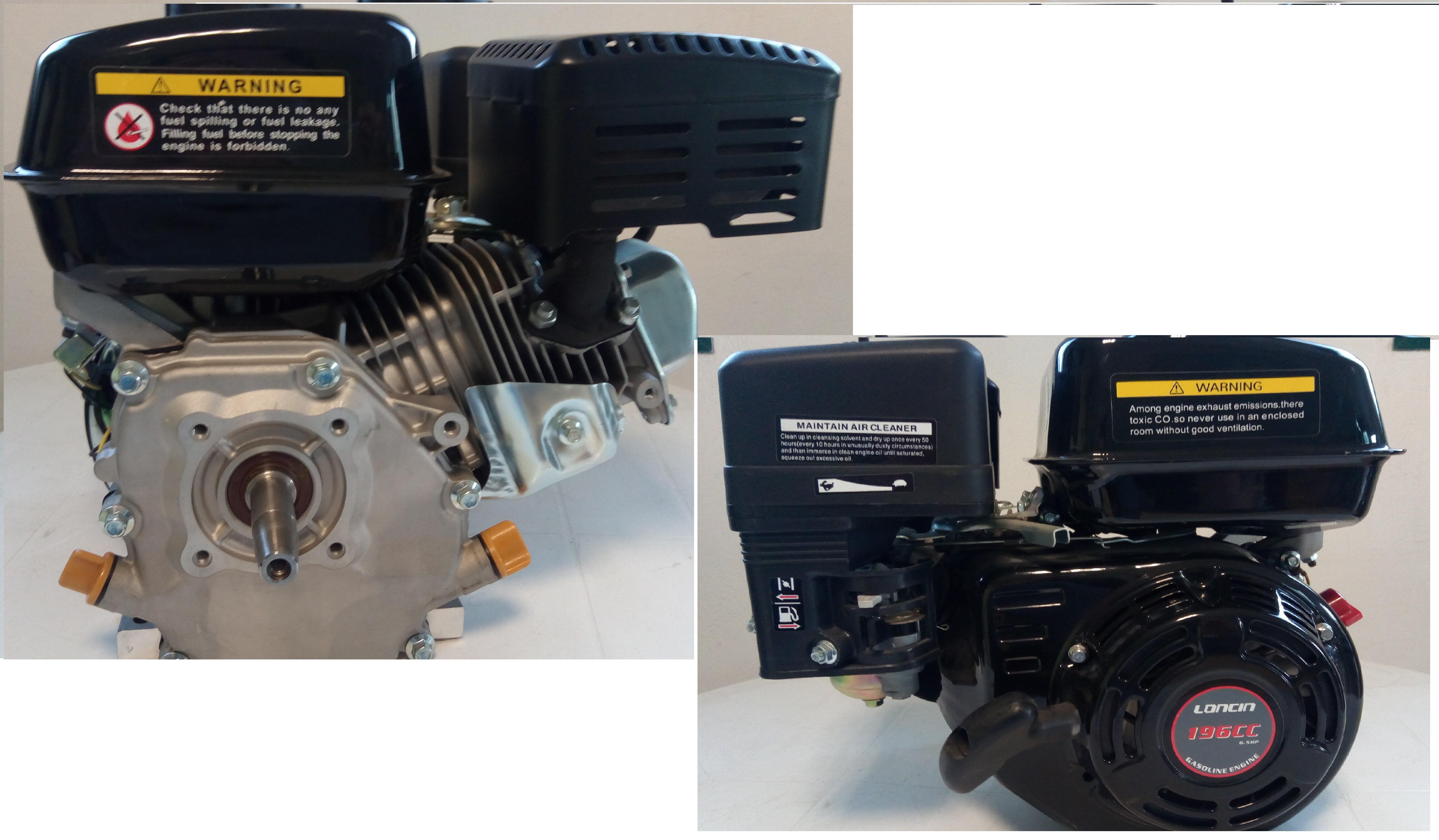 Loncin G200F Motore benzina 4 tempi HP 6,5 albero CILINDRICO 19,05 mm 196 CC
