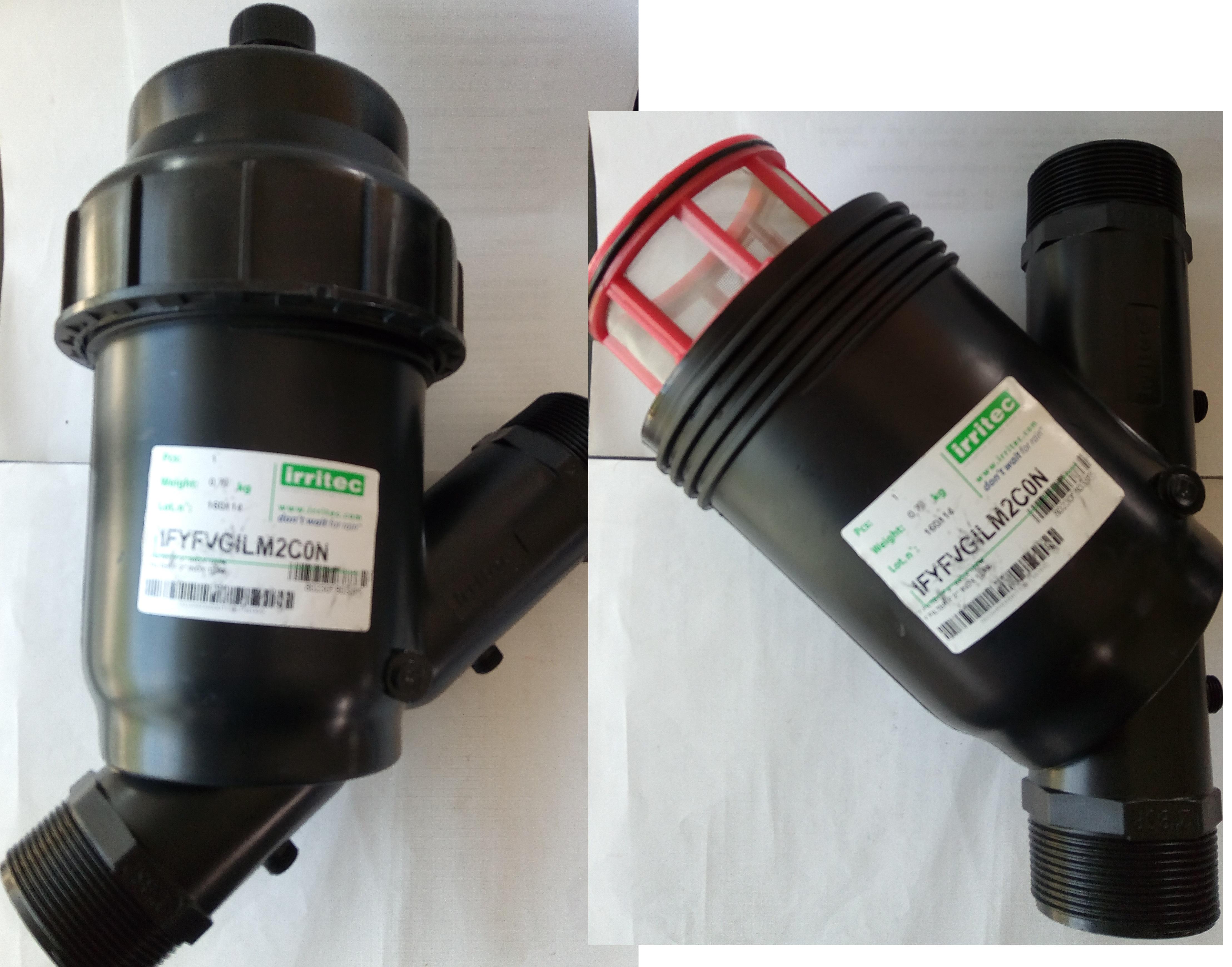 Filtro a rete a y per irrigazione da 2 elettromeccanica for Filtro per irrigazione