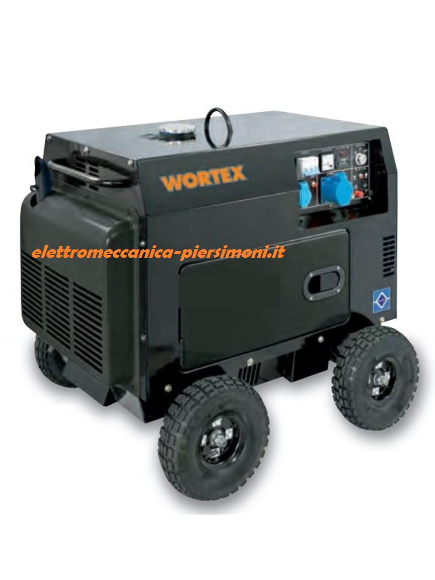 Generatore di corrente hw 5000 e 4 5kw diesel silenziato for Generatore di corrente wortex