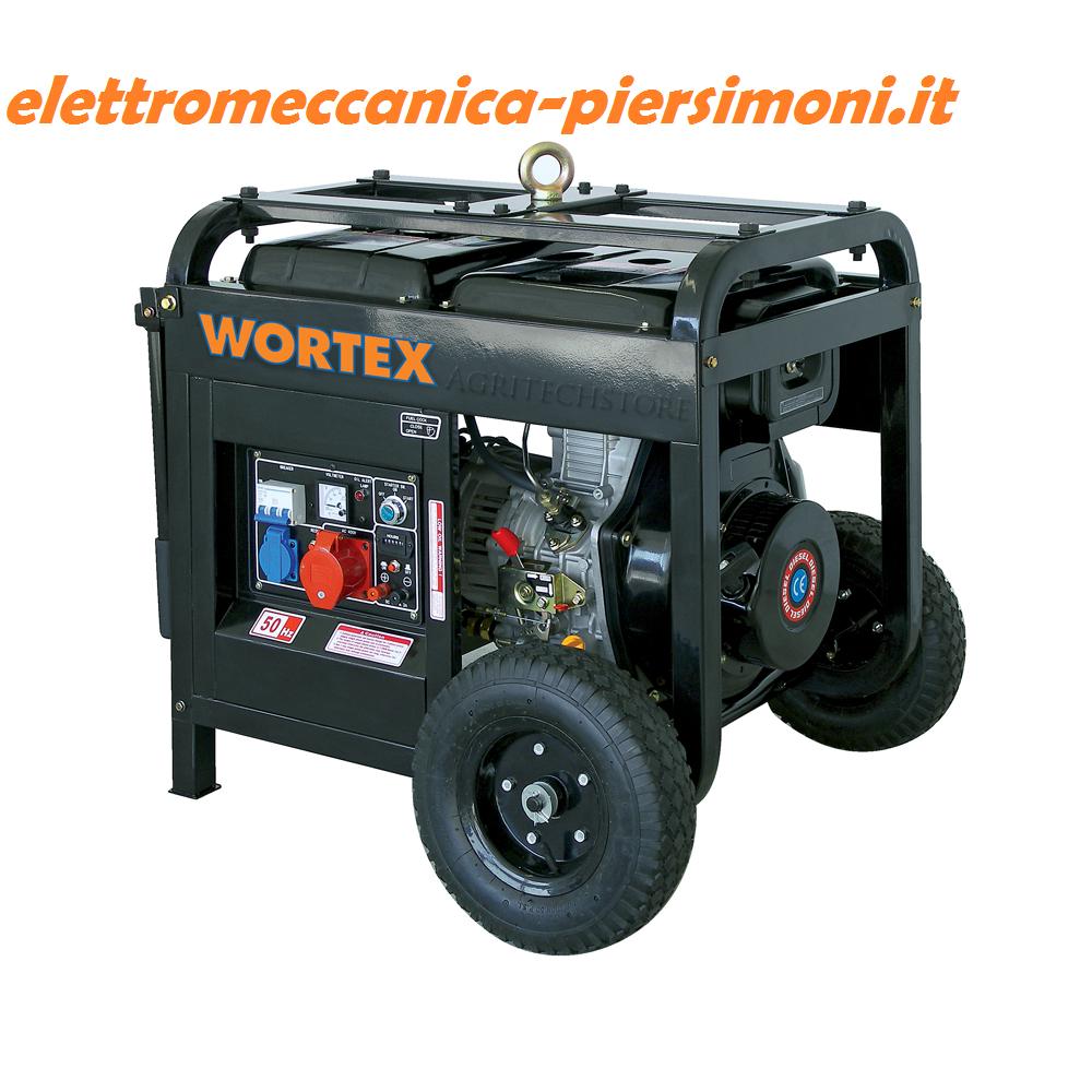 Generatore di corrente hw 5500 3e 4 8kw diesel 400v con for Generatore di corrente wortex